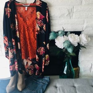 Other - 3 for 30 Navy Floral kimono